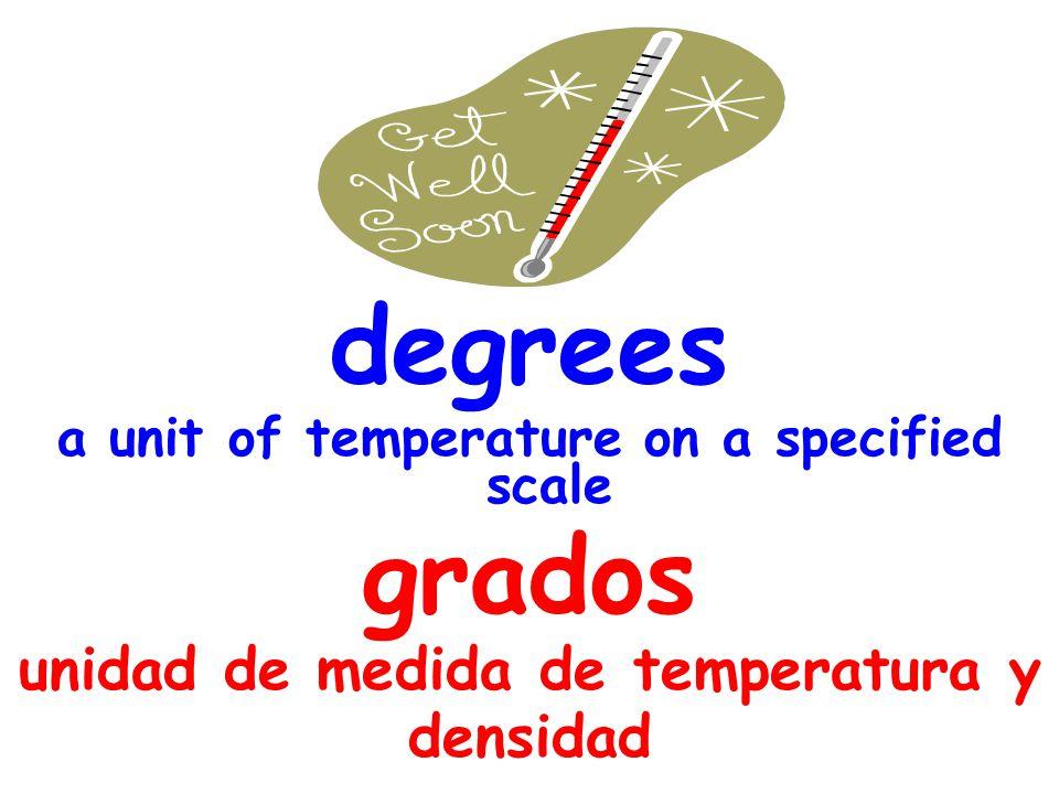 degrees grados unidad de medida de temperatura y densidad