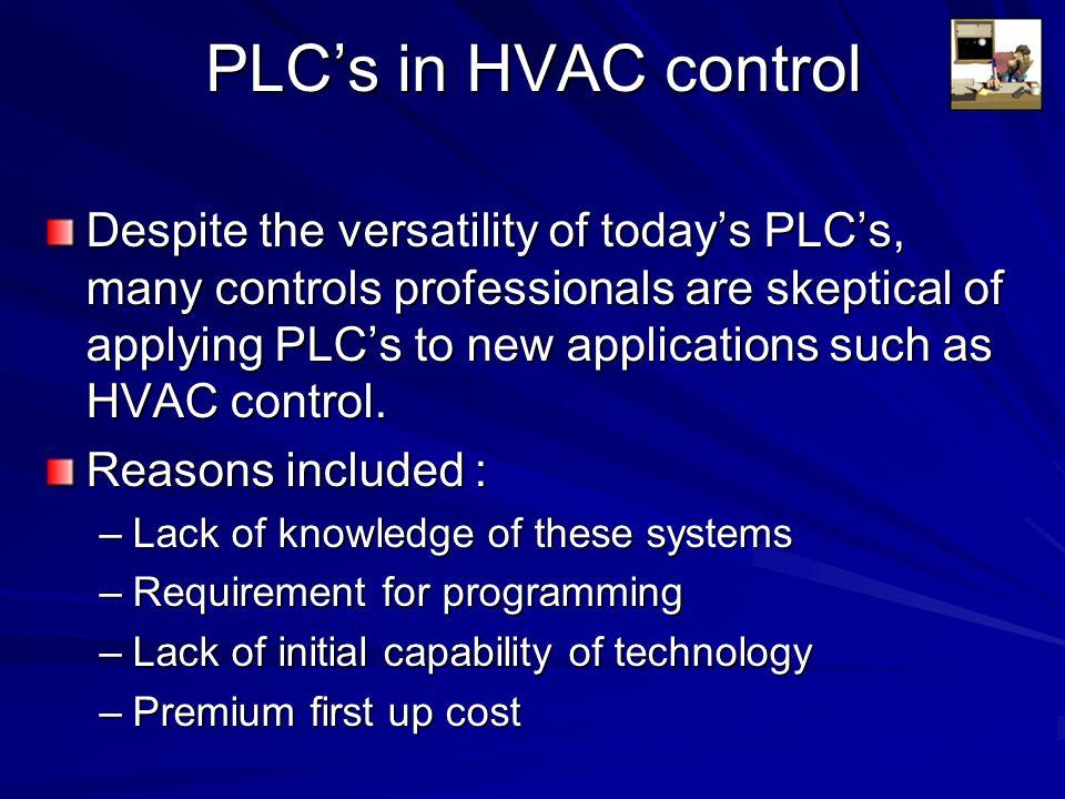 PLC's in HVAC control