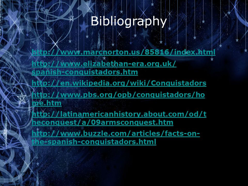 Bibliography http://www.marcnorton.us/85816/index.html