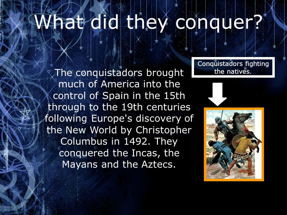 Conquistadors fighting the natives.