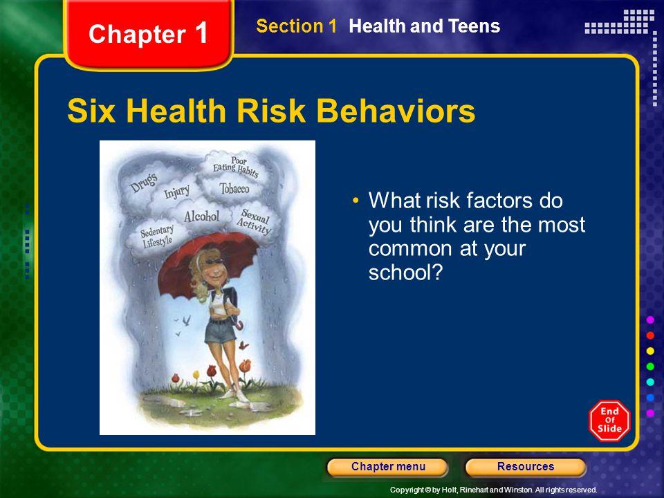 Six Health Risk Behaviors