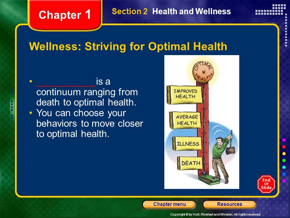 Wellness: Striving for Optimal Health