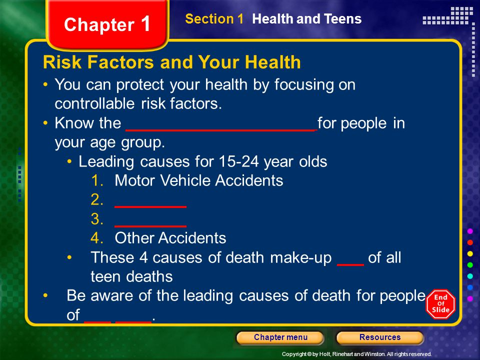Risk Factors and Your Health