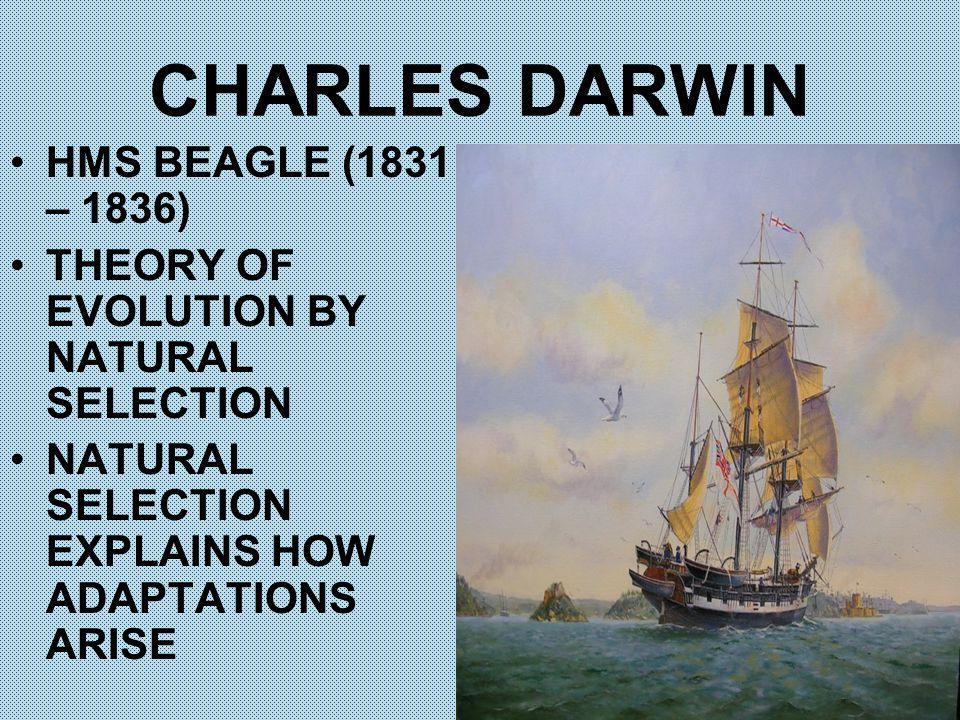 CHARLES DARWIN HMS BEAGLE (1831 – 1836)