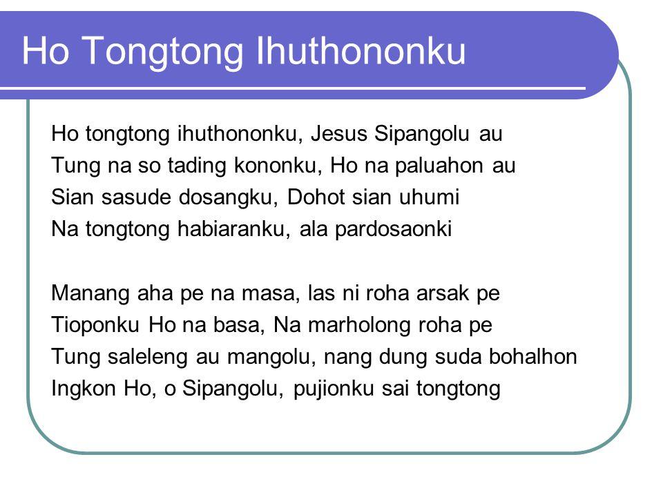 Ho Tongtong Ihuthononku