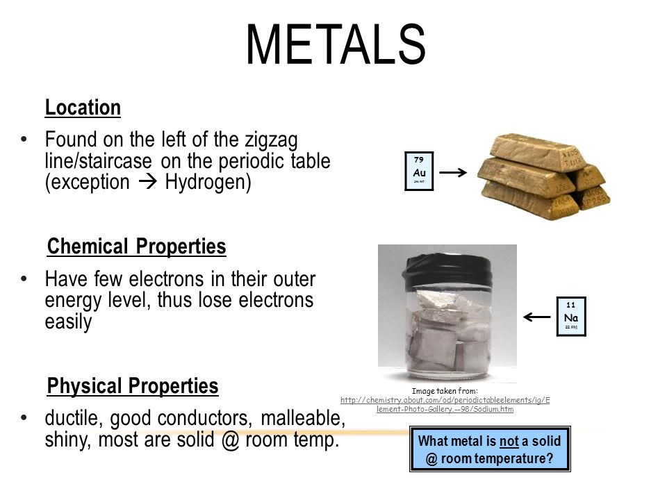 What metal is not a solid