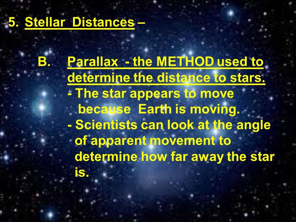 Stellar Distances –