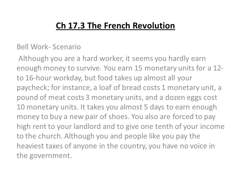 Ch 17.3 The French Revolution
