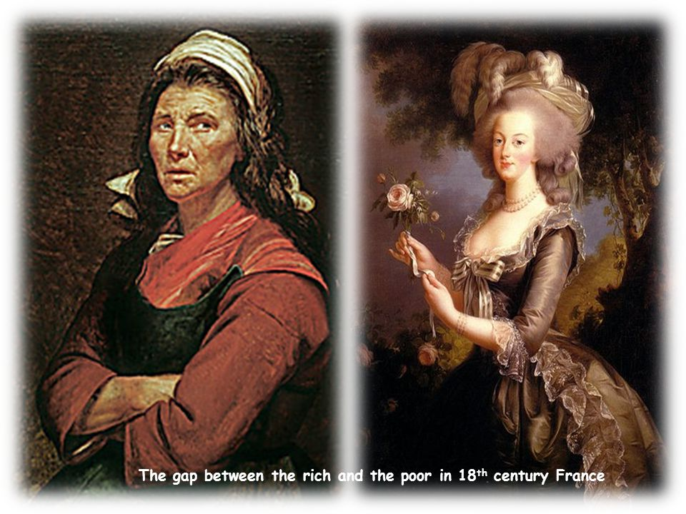 The gap between the rich and the poor in 18th century France