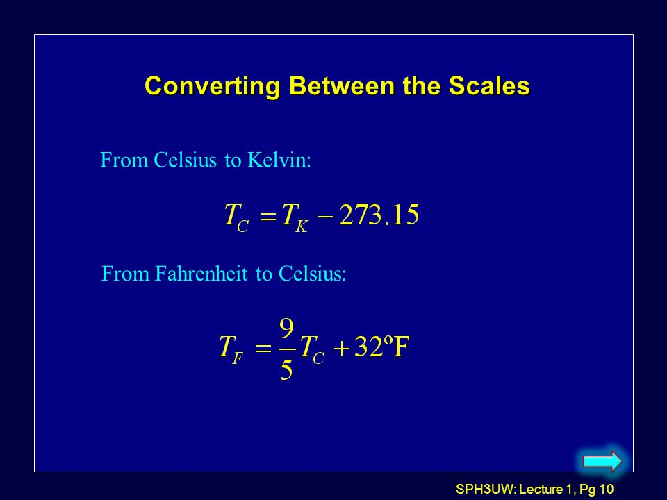 Converting Between the Scales