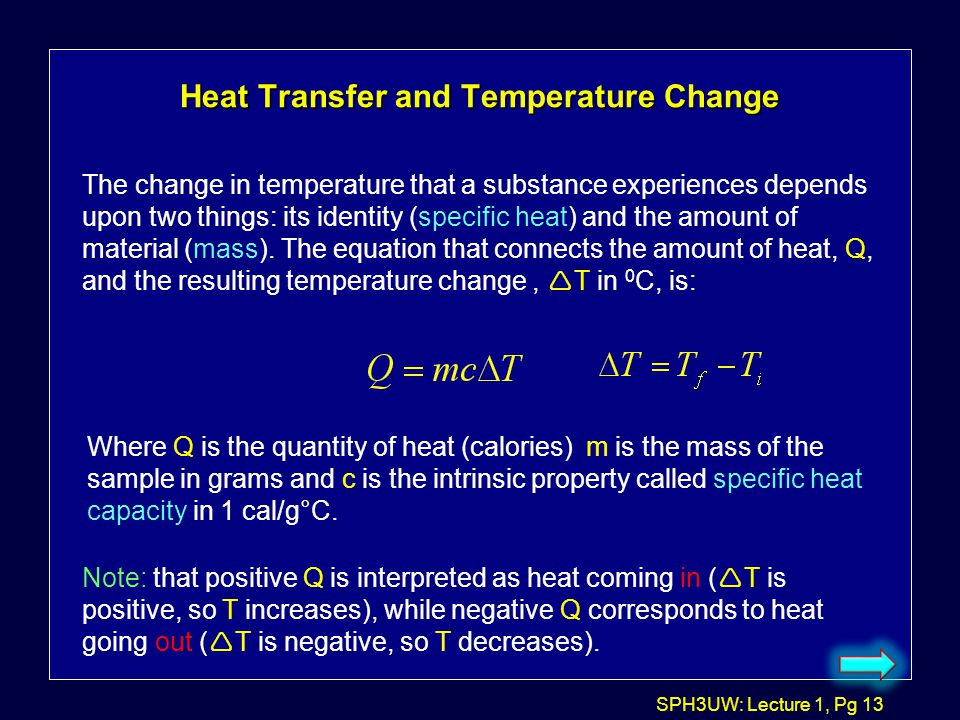 Heat Transfer and Temperature Change