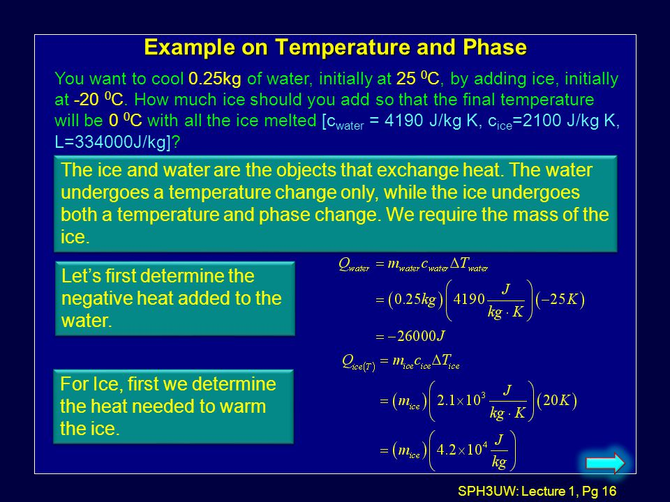 Example on Temperature and Phase