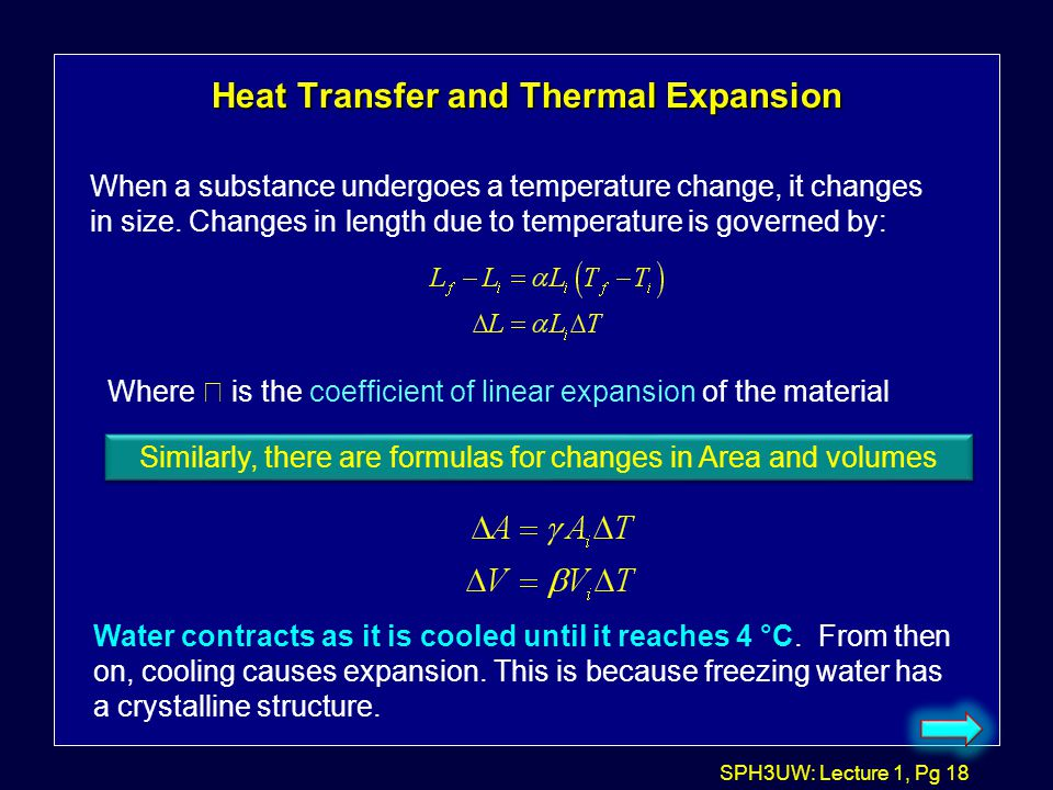Heat Transfer and Thermal Expansion