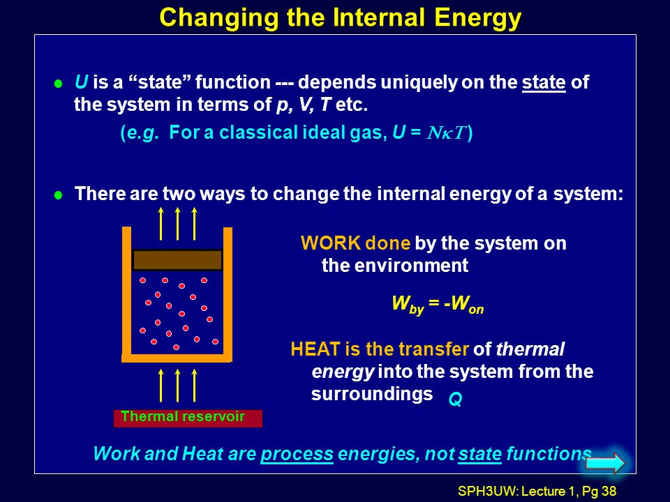 Changing the Internal Energy
