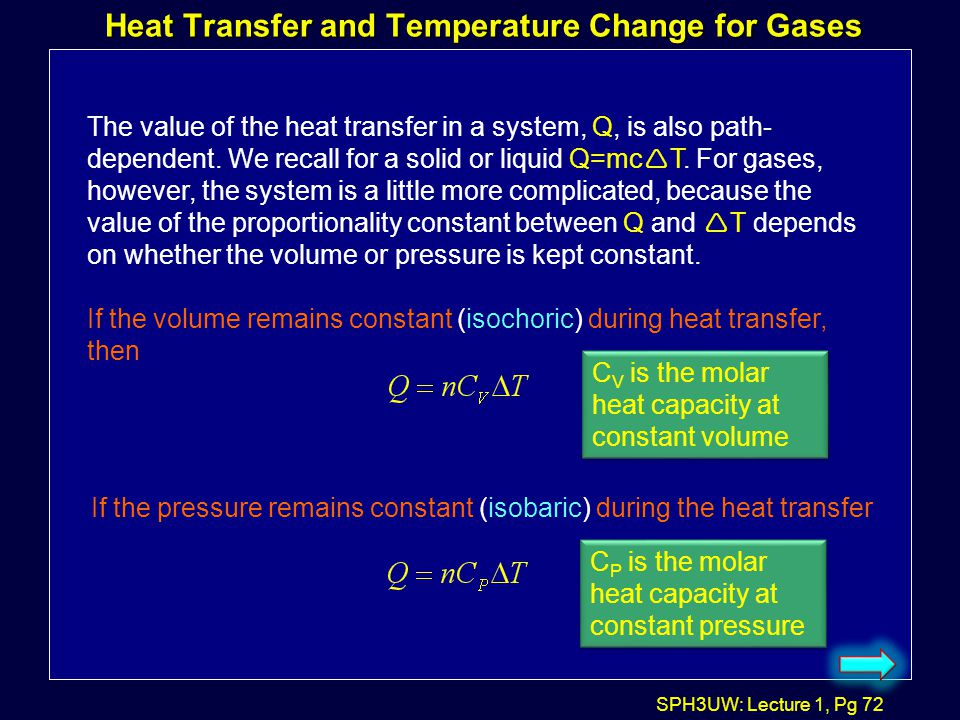 Heat Transfer and Temperature Change for Gases