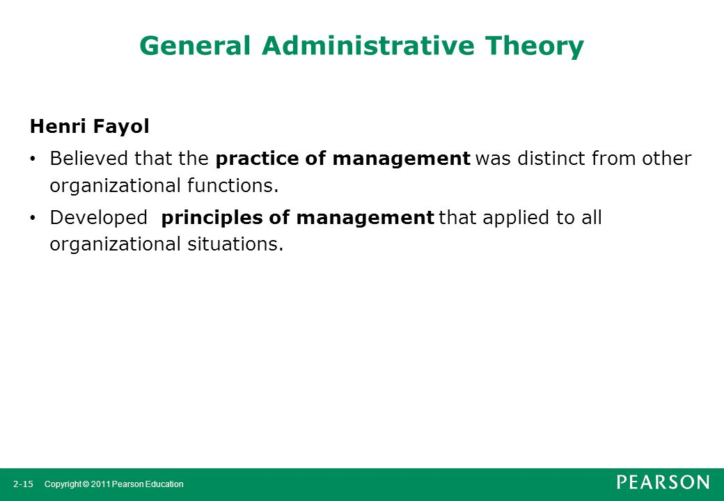 General Administrative Theory