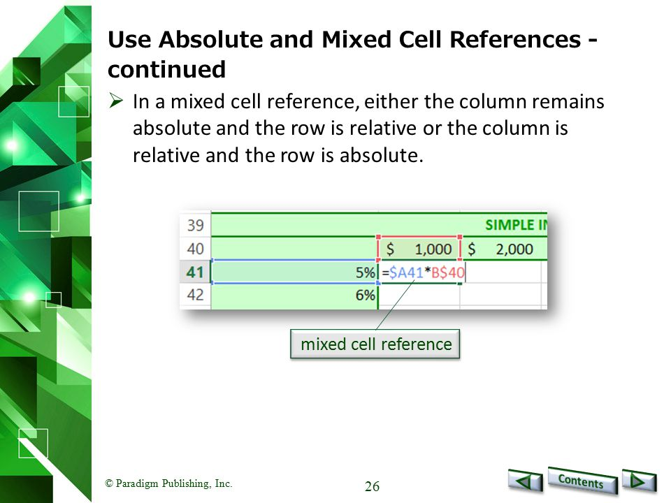 Use Absolute and Mixed Cell References - continued