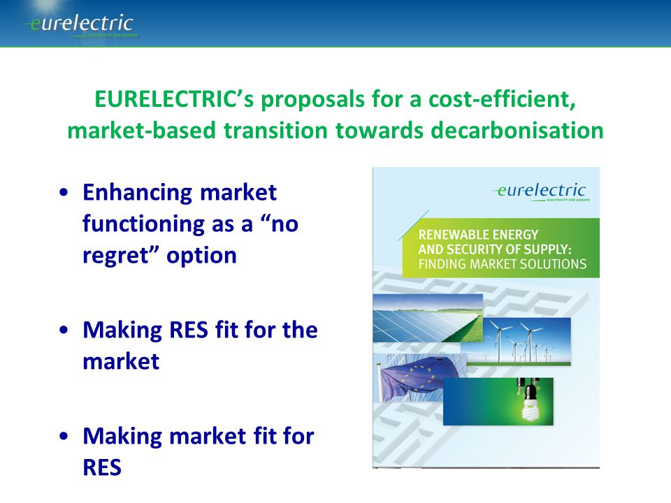 EURELECTRIC's proposals for a cost-efficient, market-based transition towards decarbonisation