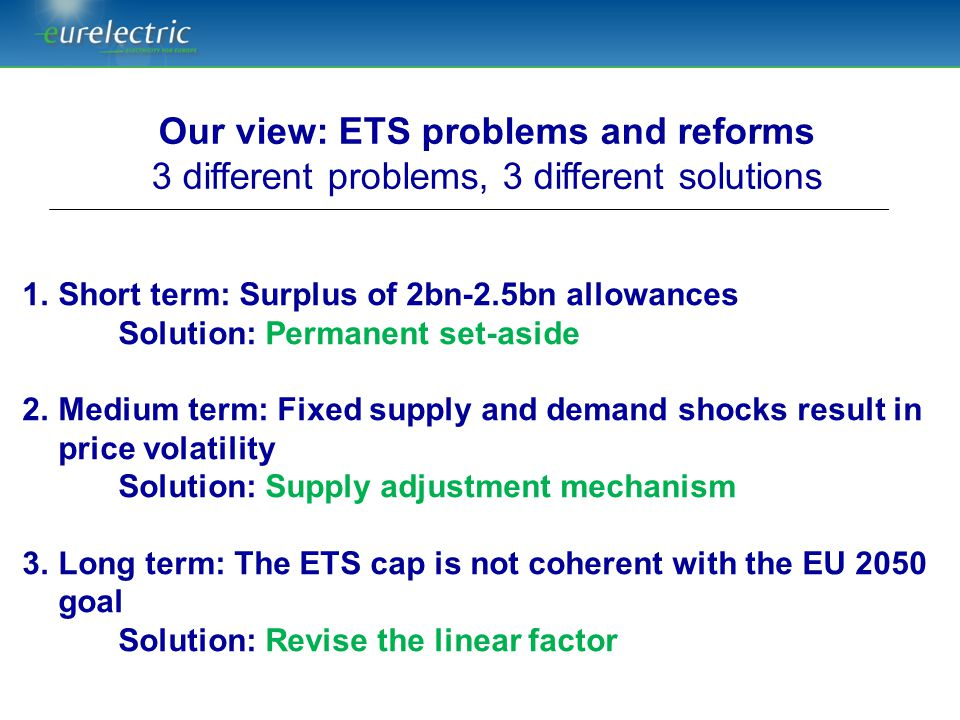 Our view: ETS problems and reforms