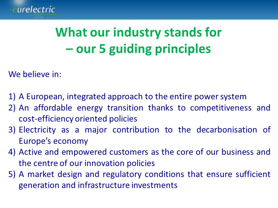 What our industry stands for – our 5 guiding principles