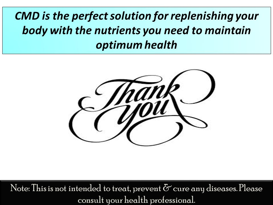 CMD is the perfect solution for replenishing your body with the nutrients you need to maintain optimum health