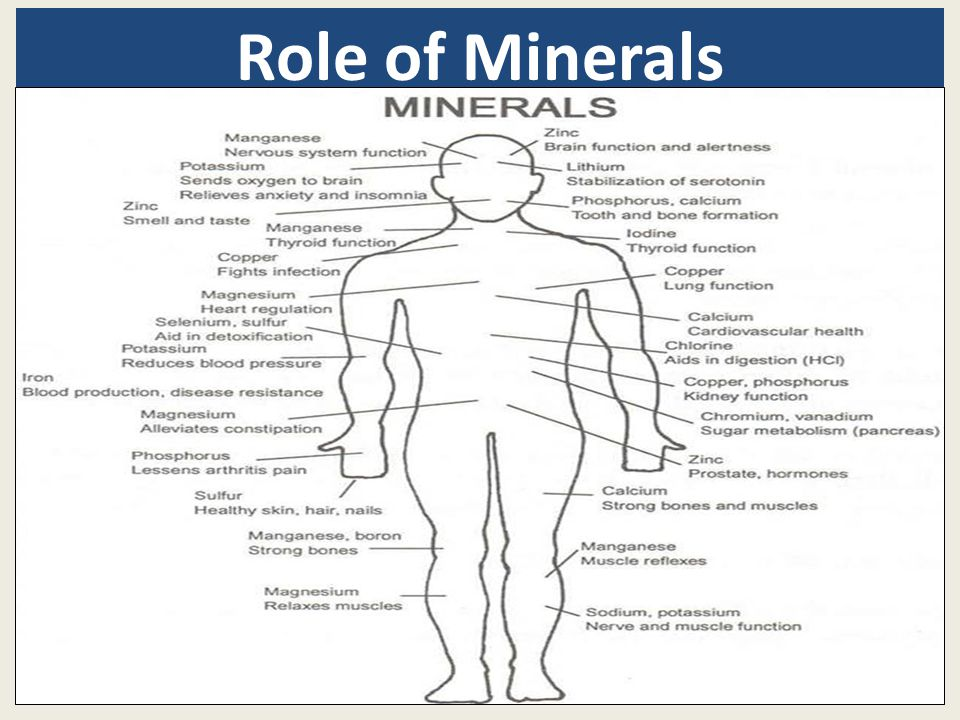 Role of Minerals