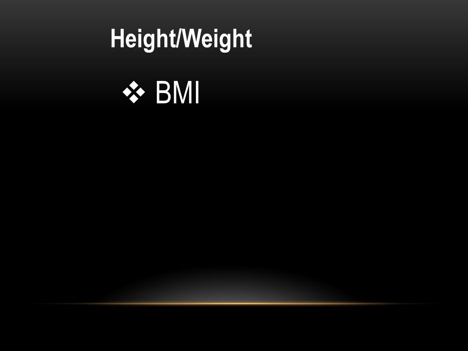 Height/Weight BMI