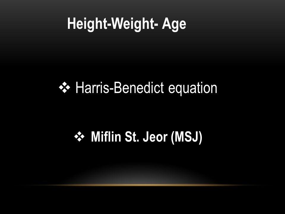 Harris-Benedict equation