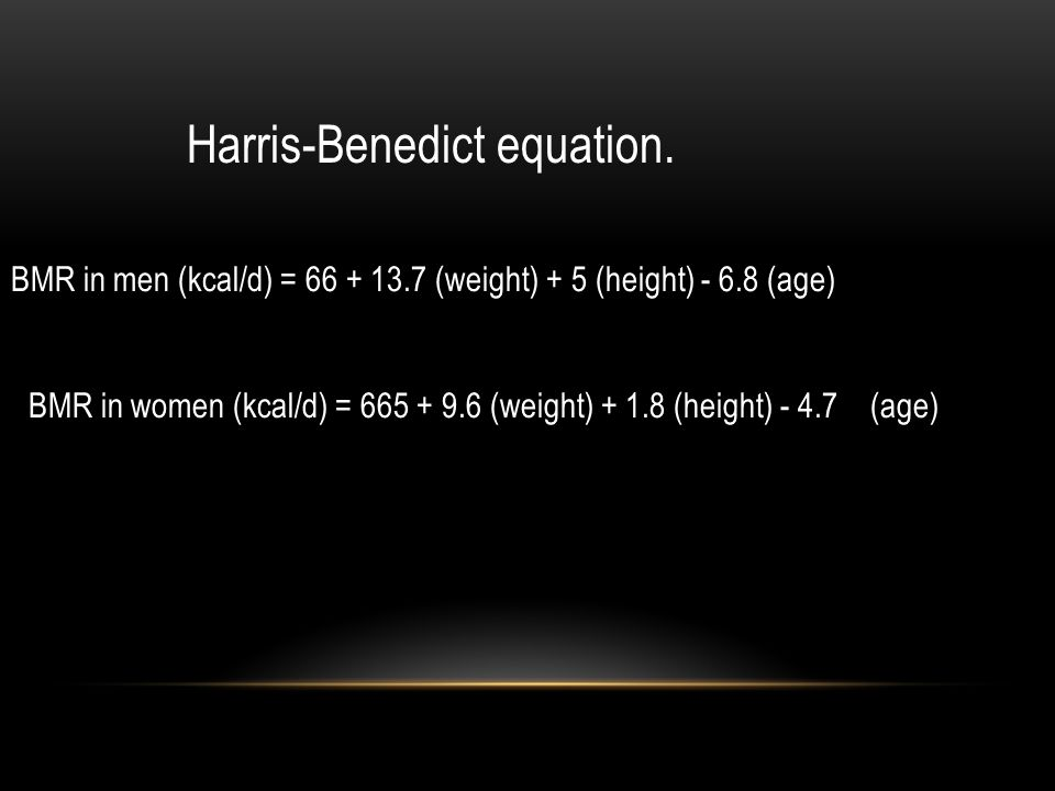 Harris-Benedict equation.