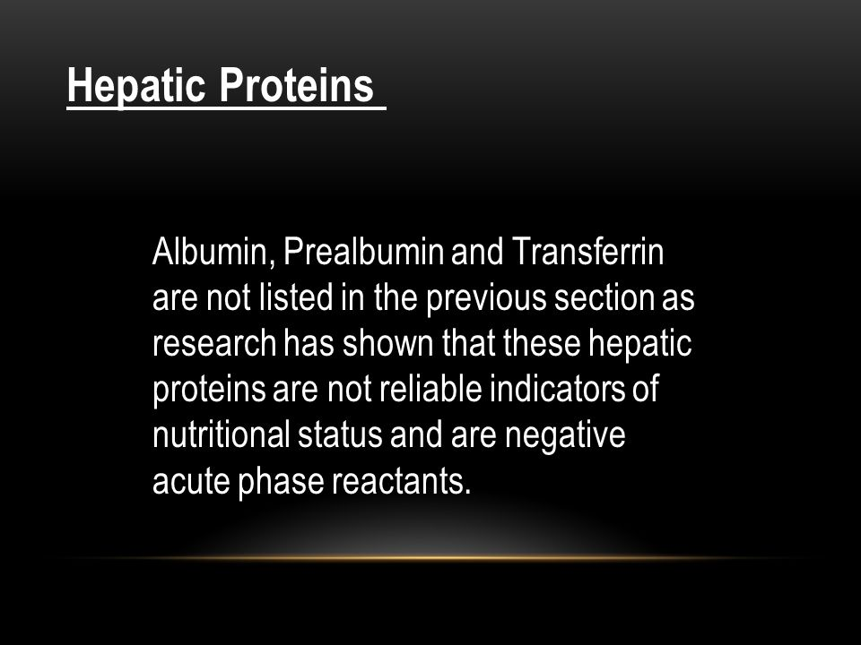 Hepatic Proteins