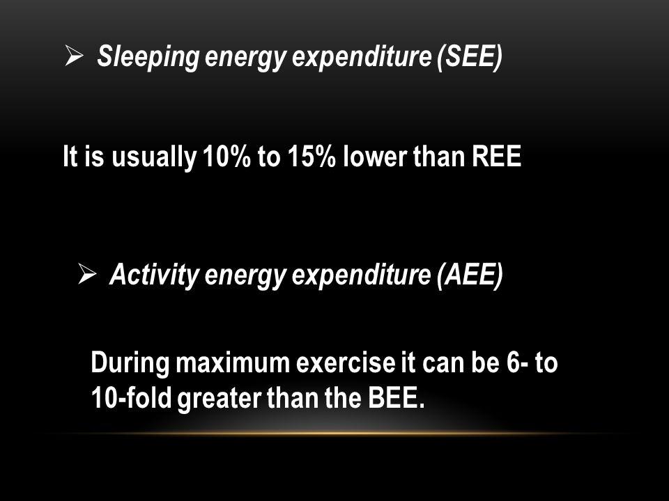 Sleeping energy expenditure (SEE)