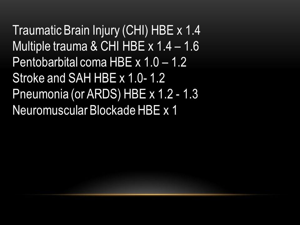 Traumatic Brain Injury (CHI) HBE x 1.4