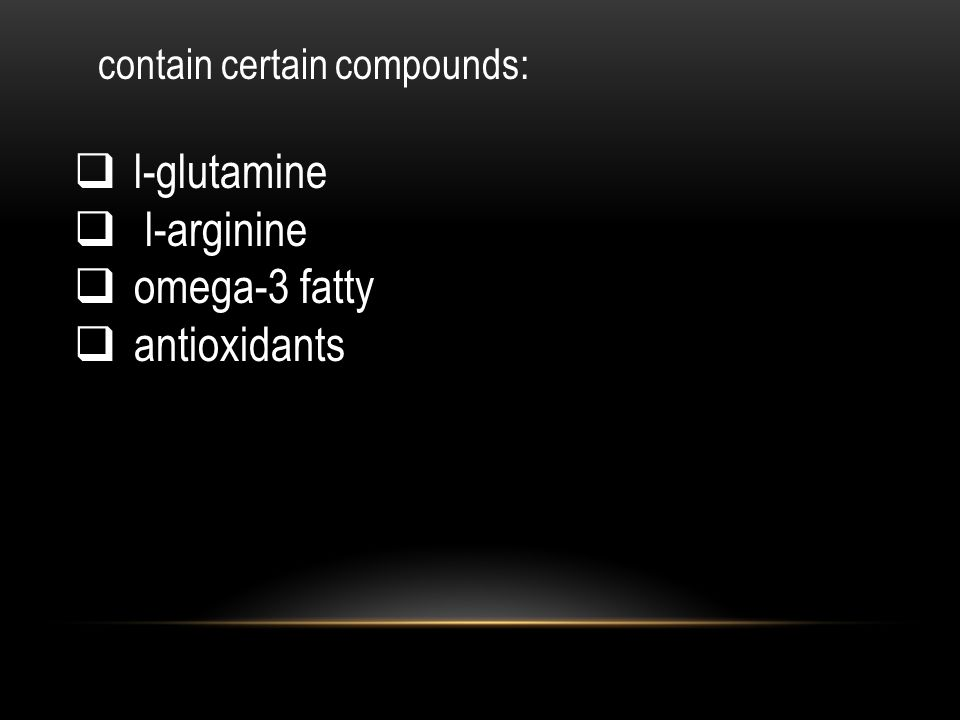l-glutamine l-arginine omega-3 fatty antioxidants