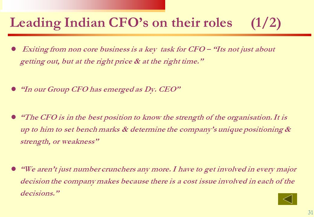 Leading Indian CFO's on their roles (1/2)