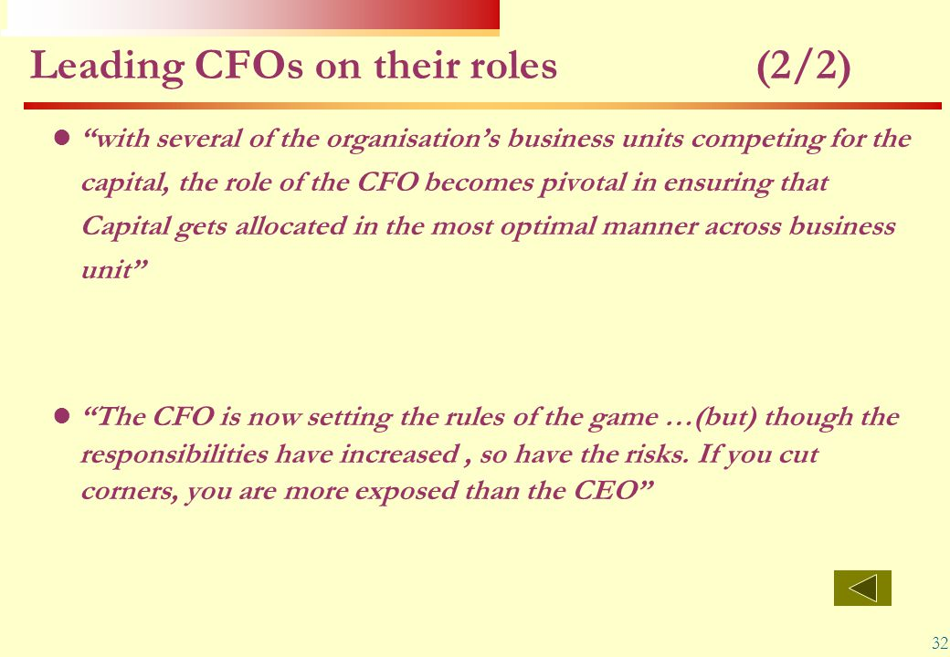 Leading CFOs on their roles (2/2)