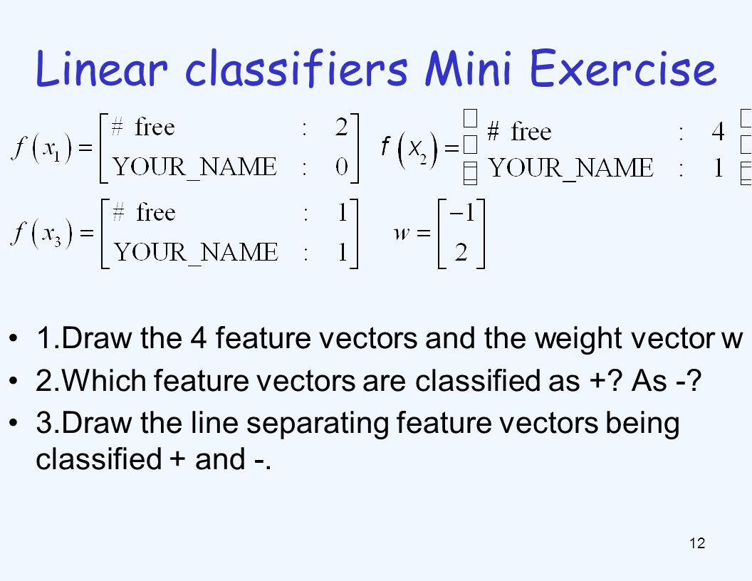 Linear classifiers Mini Exercise 2---Bias Term