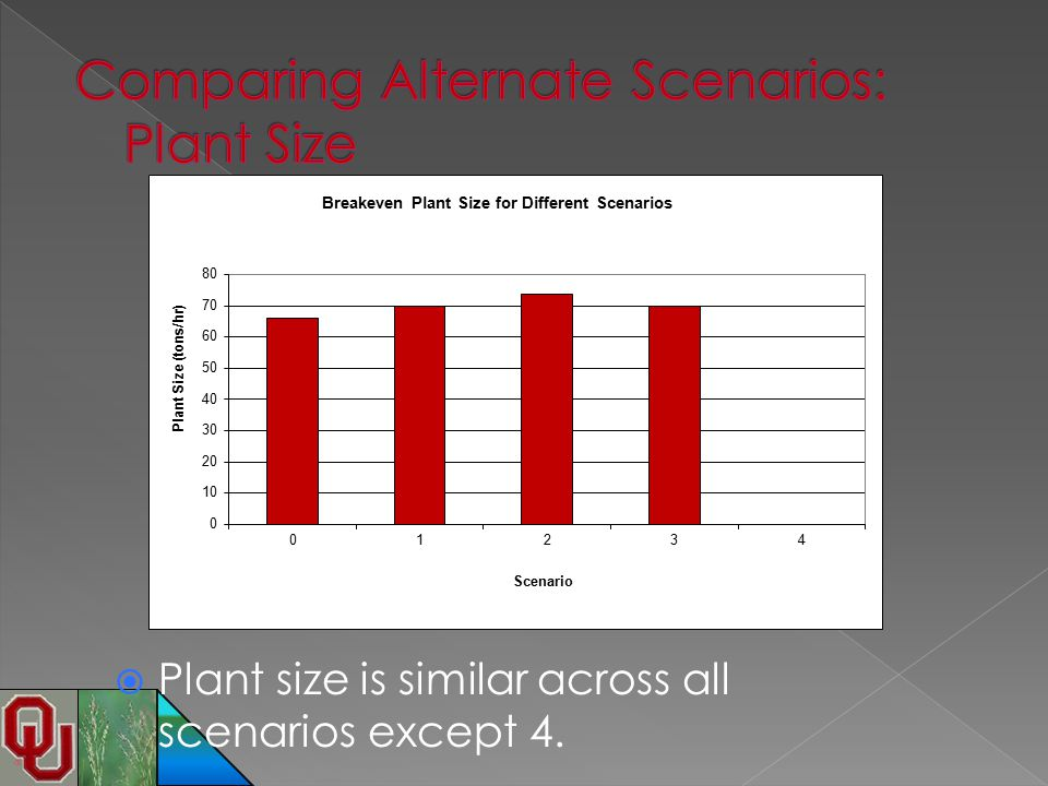 Comparing Alternate Scenarios: Plant Size
