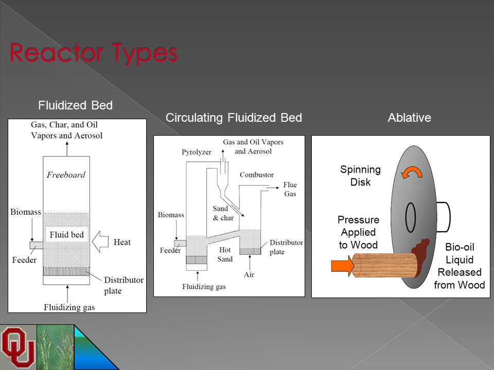 Reactor Types Fluidized Bed Circulating Fluidized Bed Ablative
