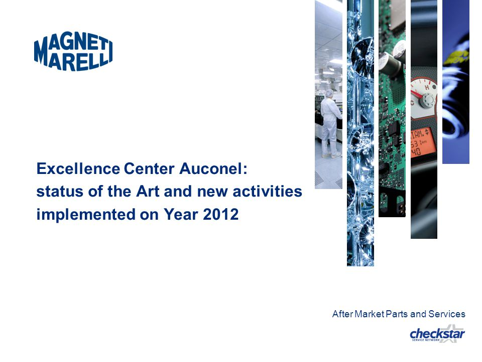 Excellence Center Auconel: status of the Art and new activities implemented on Year 2012