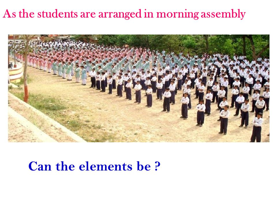 As the students are arranged in morning assembly