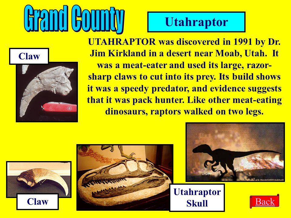 Grand County Utahraptor