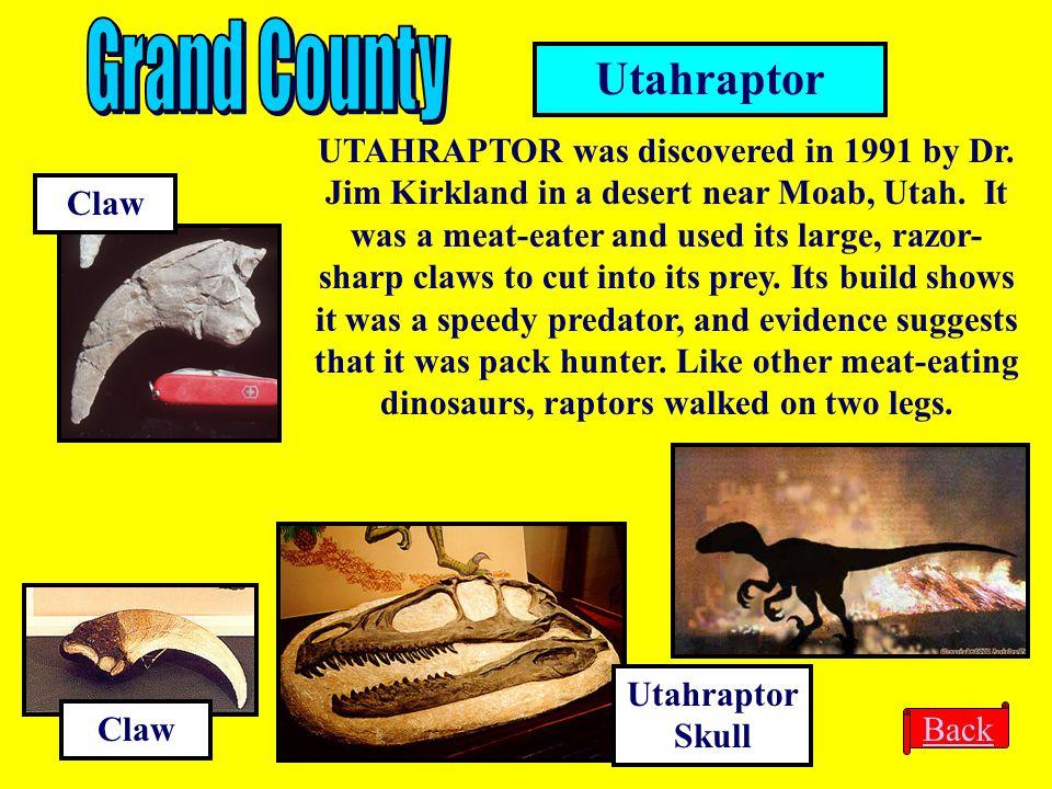 Grand County Utahraptor