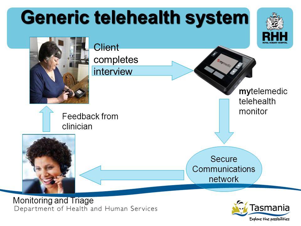Generic telehealth system