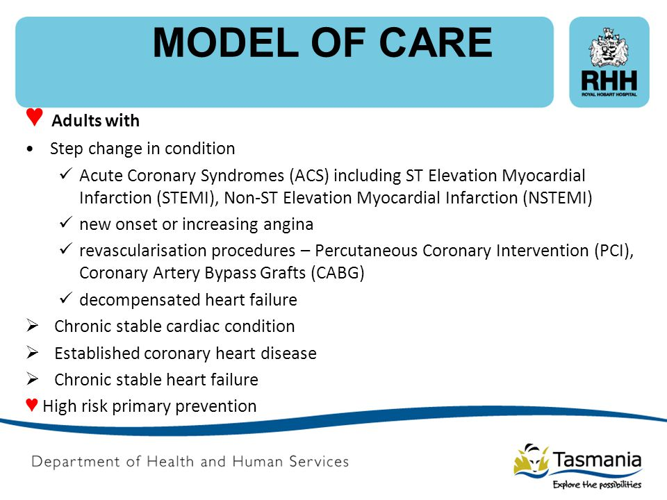 MODEL OF CARE ♥ Adults with Step change in condition