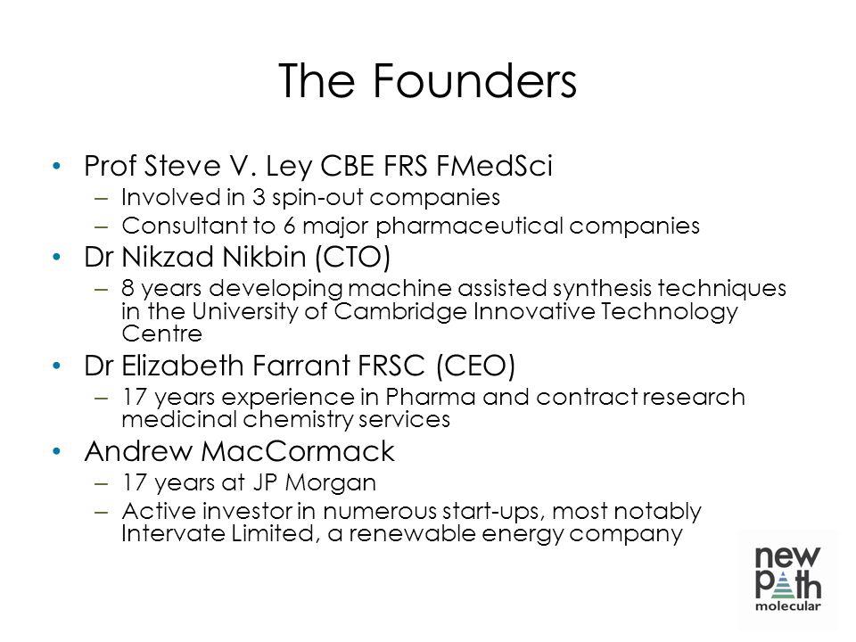 The Founders Prof Steve V. Ley CBE FRS FMedSci Dr Nikzad Nikbin (CTO)