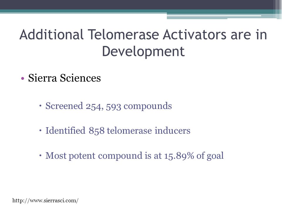 Additional Telomerase Activators are in Development