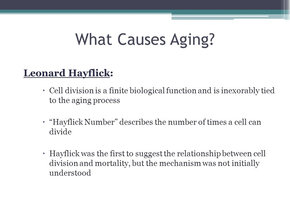 What Causes Aging Leonard Hayflick: