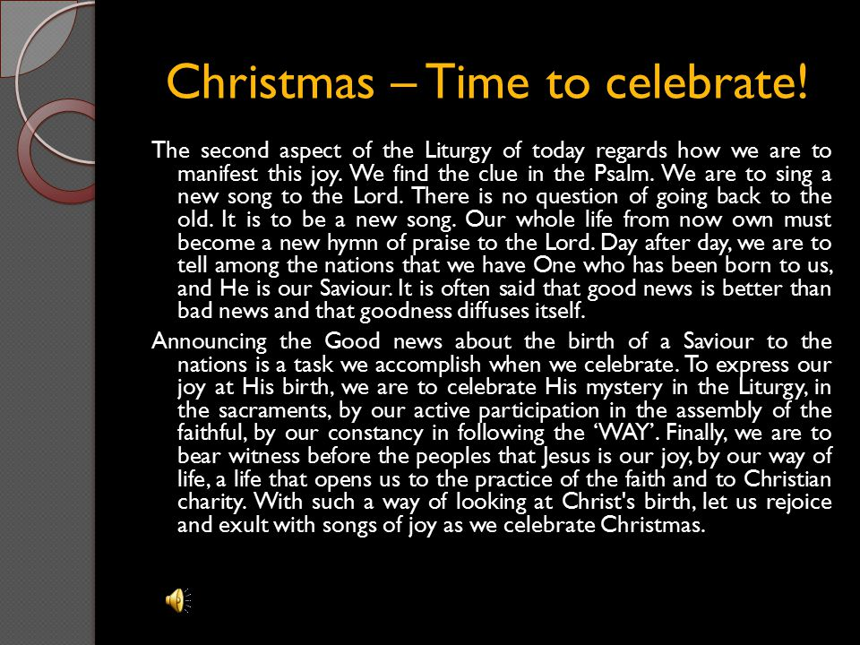 Christmas – Time to celebrate!