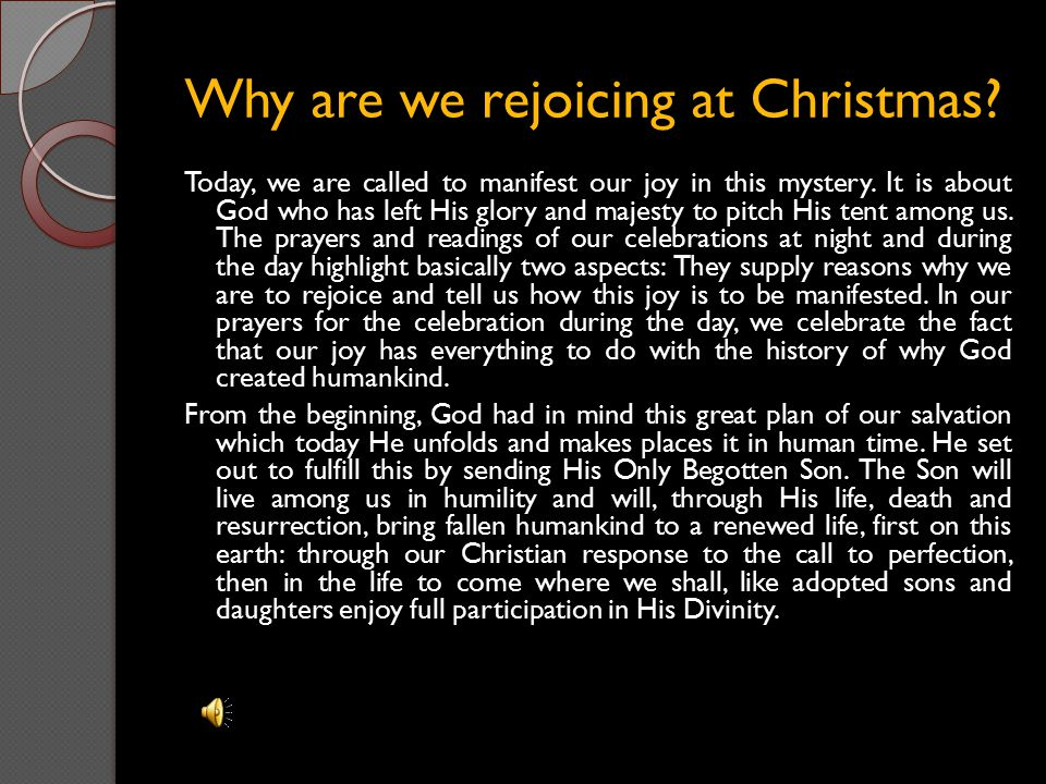 Why are we rejoicing at Christmas