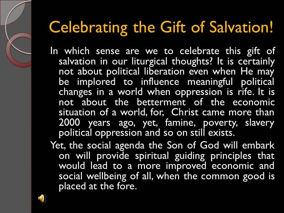 Celebrating the Gift of Salvation!